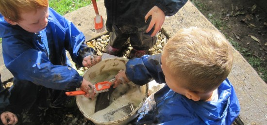 playgroup mud cleanup