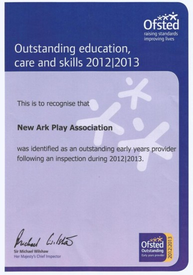 Ofsted certificate - low res