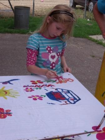 painting teepee material